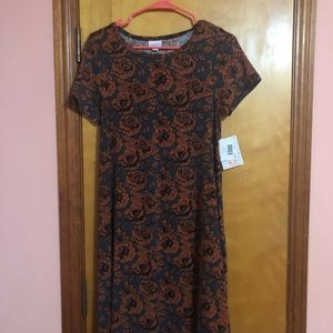 Beautiful fall print! Size XS Lularoe Carly Dress